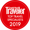 Conde Nast, Top Traveler Specialists of 2019