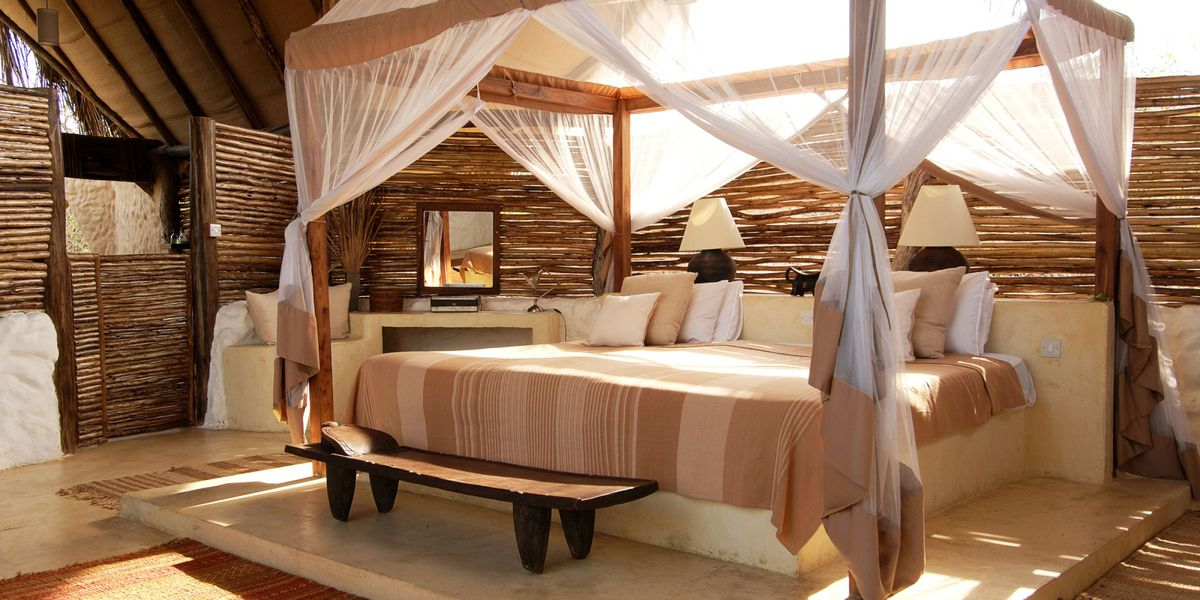 Suite bedroom- Sand Rivers Selous, Selous National Park, Tanzania © Nomad Tanzania