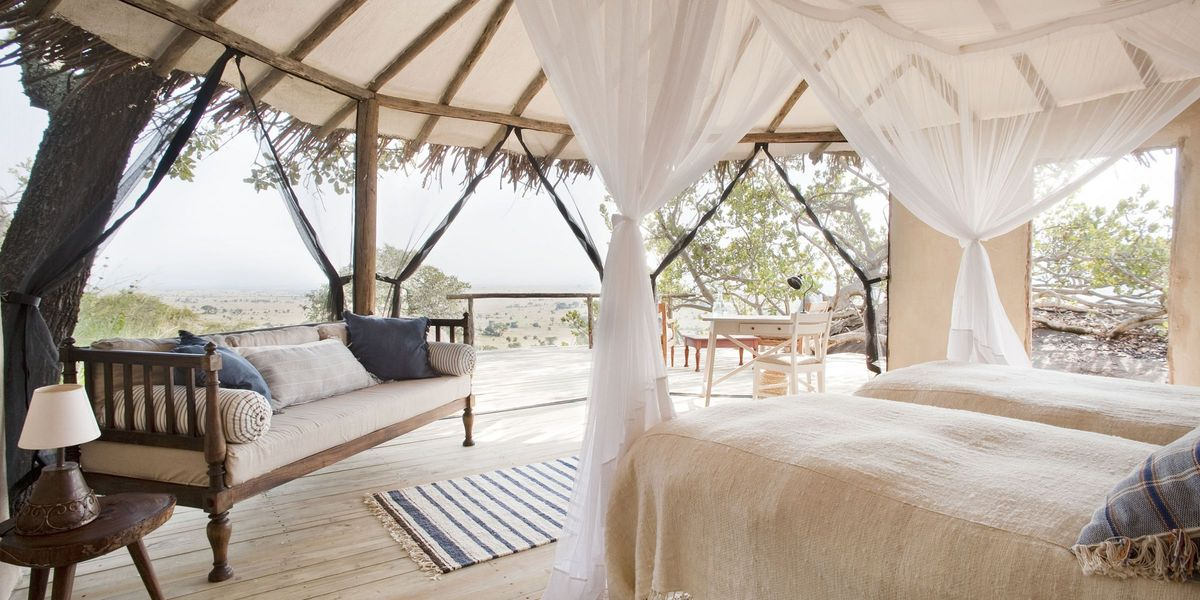 Bedroom at Lamai Serengeti, Serengeti National Park, Tanzania